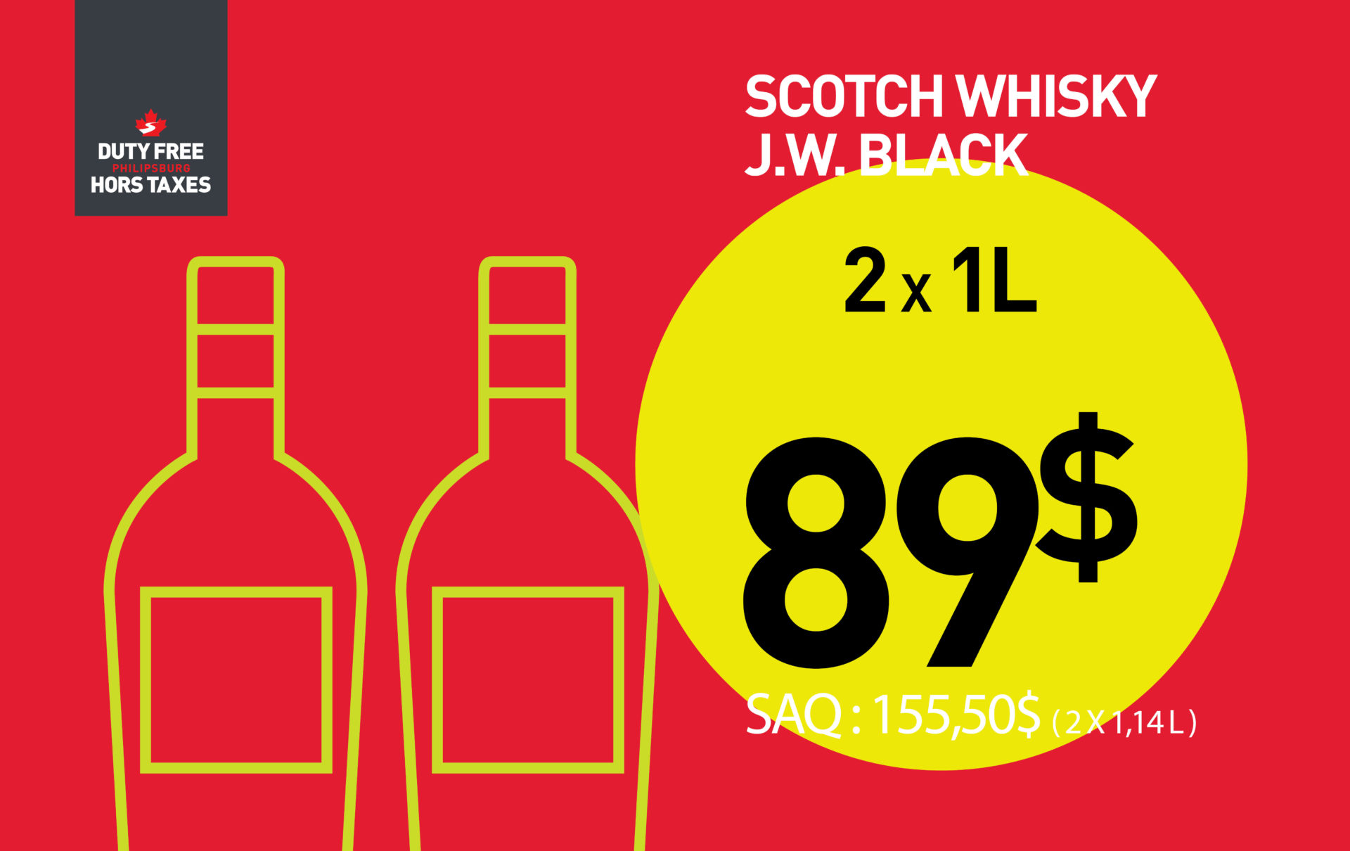 Johnnie Walker Black Label (2 X 1L)