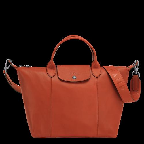 Longchamp Le Pliage Cuir #1515 Rust - Philipsburg Duty Free