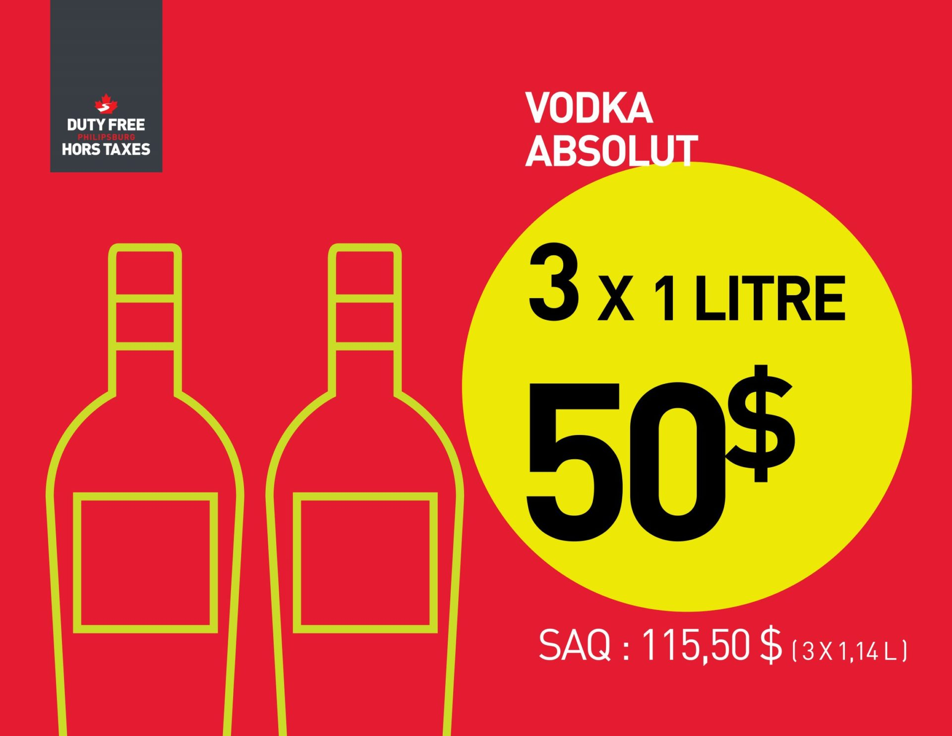 Absolut Vodka (3X1L)