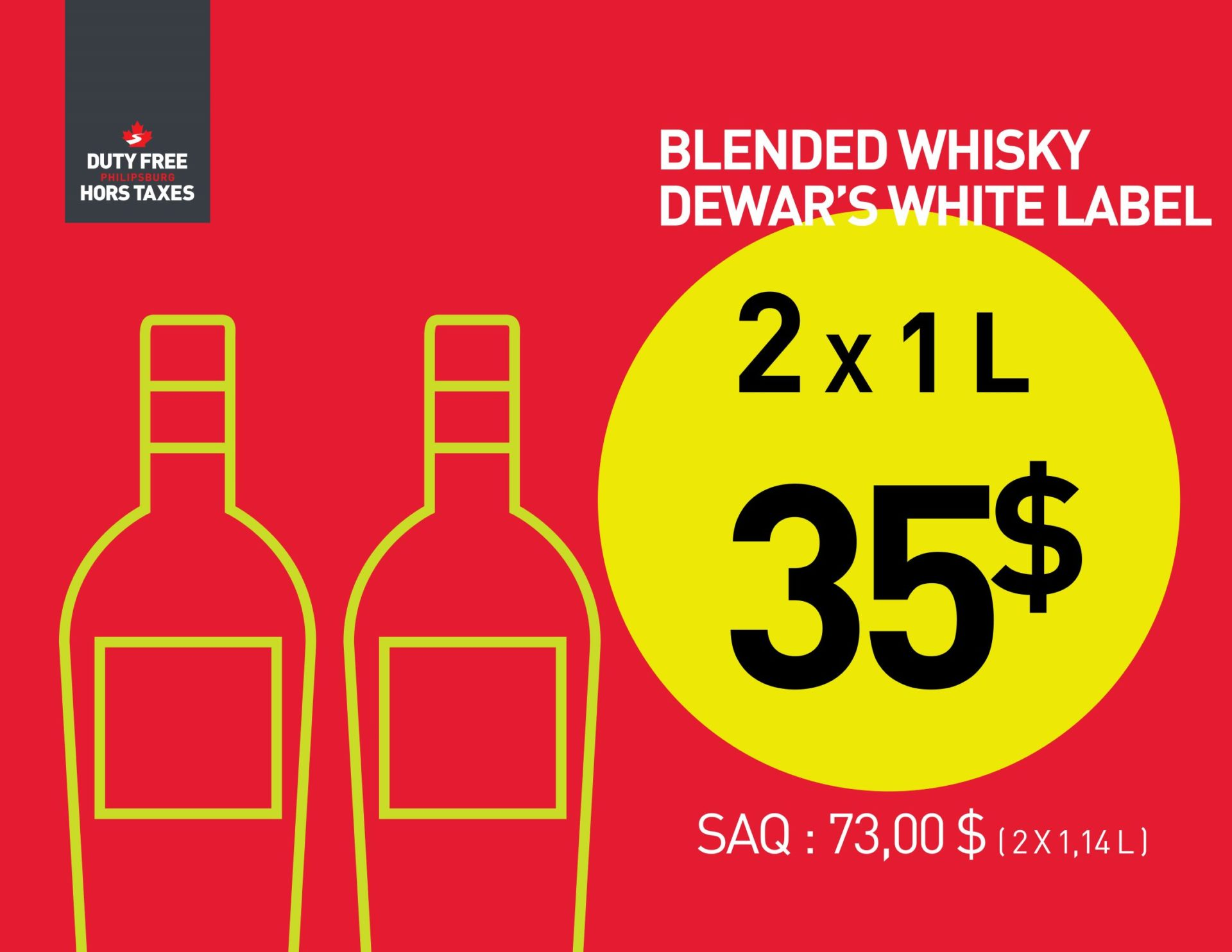Dewar's White Label (2X1L)