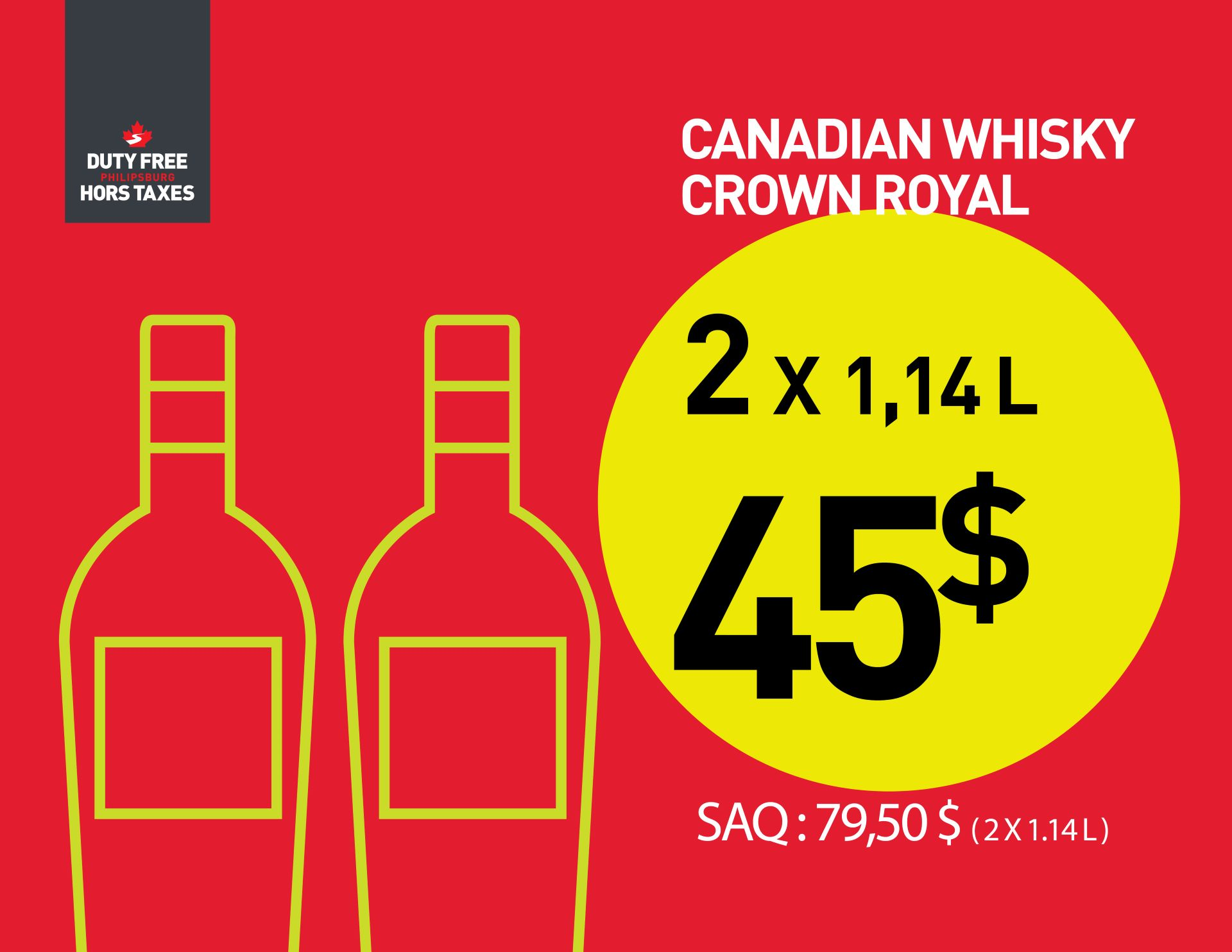 Crown Royal (2 X 1.14L)